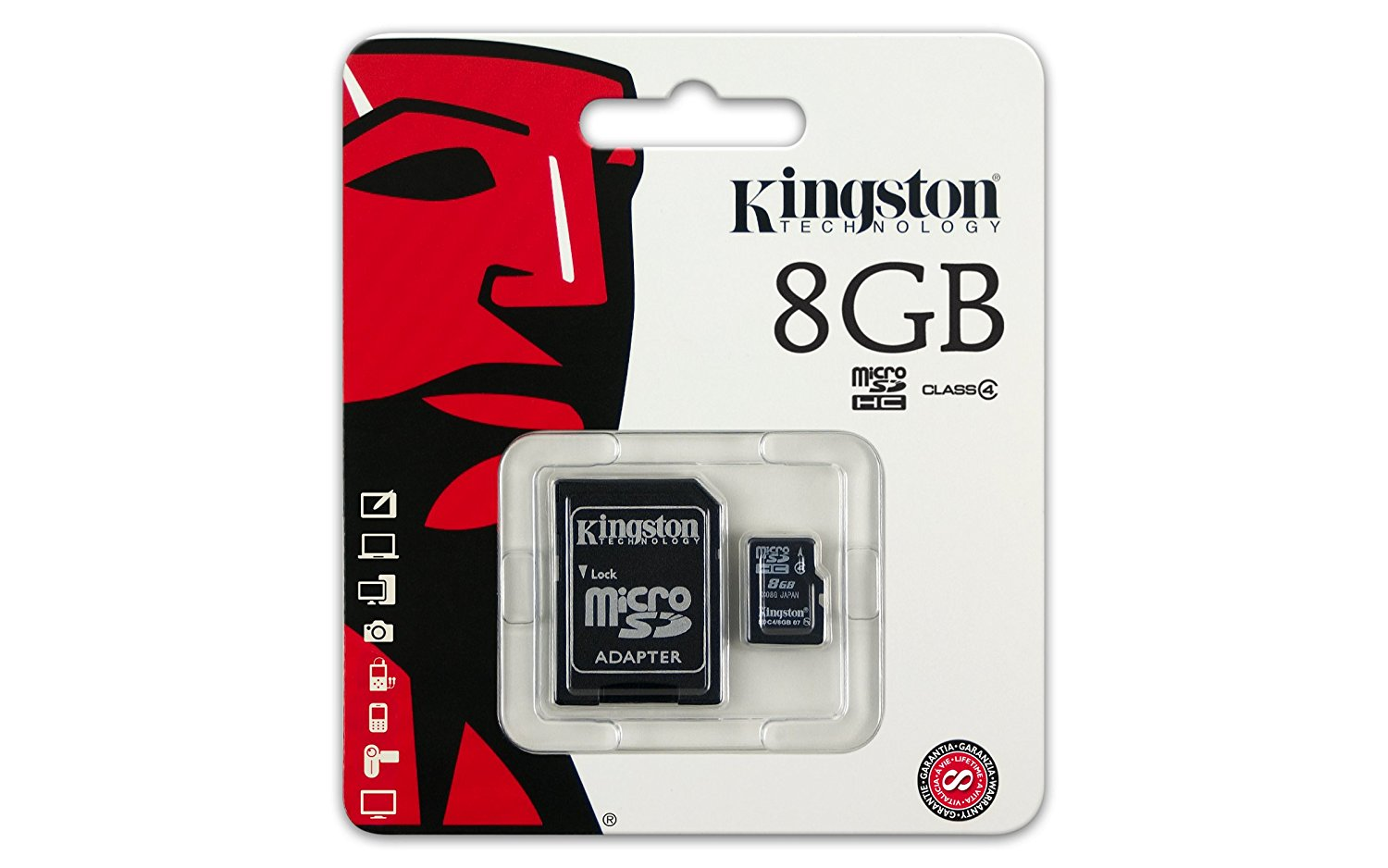 Kingston Micro SDHC karta 8GB + adaptér