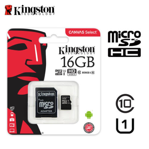 Kingston Micro SDHC karta 16GB + adaptér